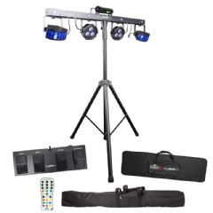 Chauvet GigBAR 2 LED Derby Par Laser UV Strobe Light System + Controller Gig Bar